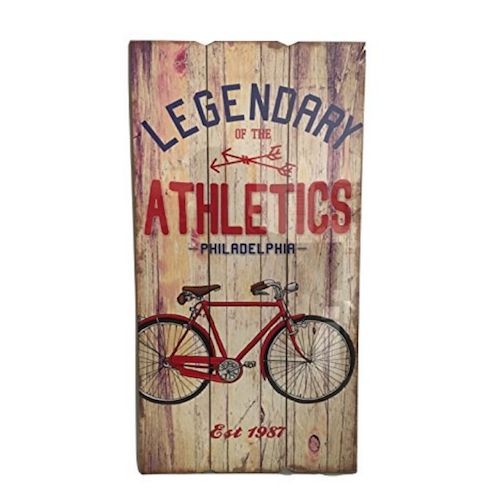 Cartel vintage de madera Bicycle